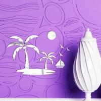 Palmiye Ada Dekoratif Ayna