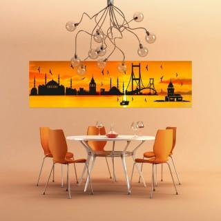 Ayna İşlemeli İstanbul Tablosu - Özel Üretim
