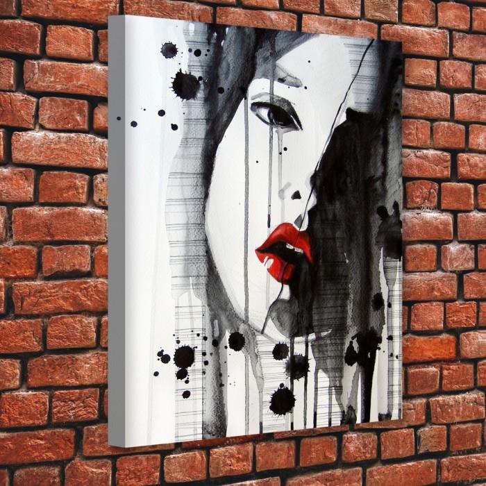 Kadın Yüzü Kanvas Tablo