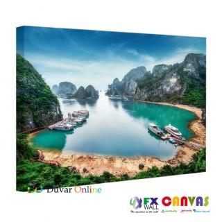 A104-065 Manzara Göl Doğa Kanvas Tablo