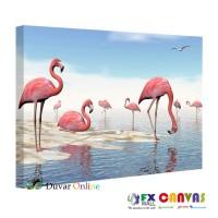 Flamingolu Kanvas Tablo