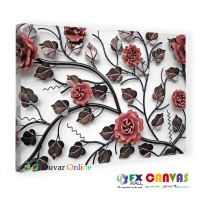 Demir Çiçekler Kanvas Tablo