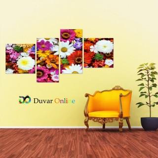 Karışık Çiçekler Kanvas Tablo