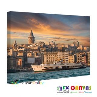 Galata Kulesi ve İstanbul Manzarası Kanvas Tablo