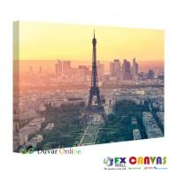 CN-A302-011 Paris - Eyfel Kulesi Gün Batımı Kanvas Tablo