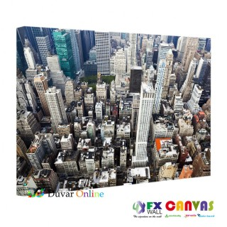 A304-001 Şehir Manzarası Kanvas Tablo