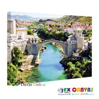 Bosna Hersek Köprüsü Kanvas Tablo