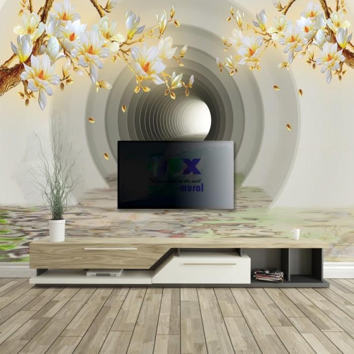 3D Tünel Derinlikli - Duvar Posteri
