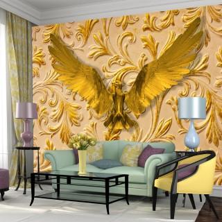 3D Altın Kartal Duvar Posteri