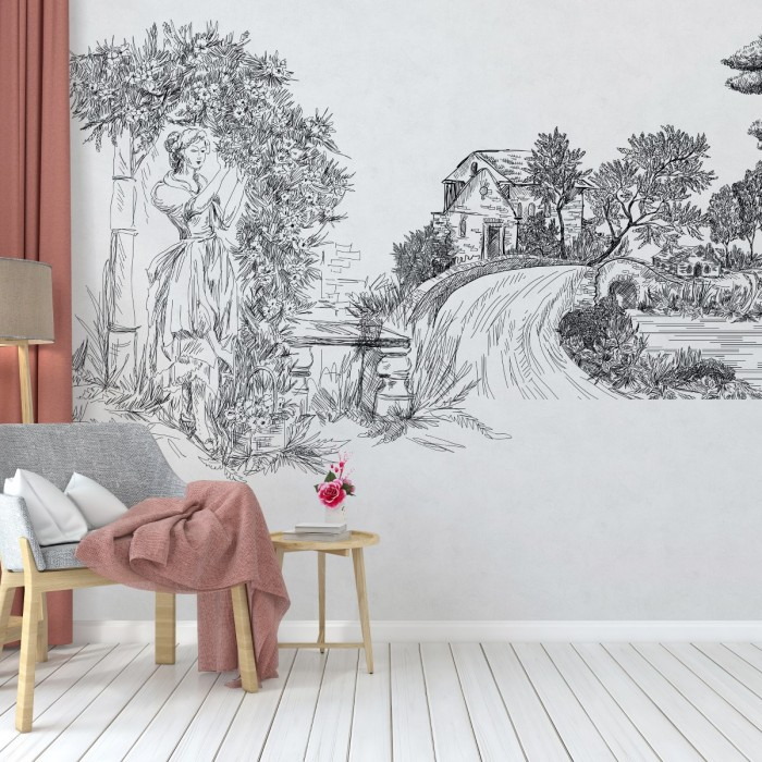 Çizgi Sanatı Duvar Kağıdı 01A