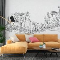 Çizgi Sanatı Duvar Kağıdı 02A