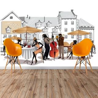Sokak Kafe Duvar Posteri