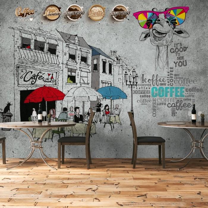 Cafe Duvar Kağıdı - Özel Tasarım