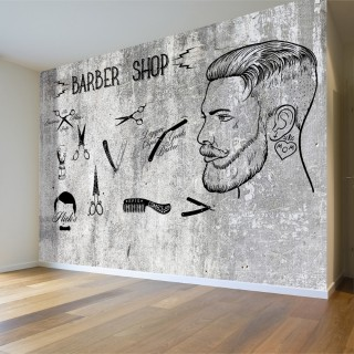 Berber Dükkanı - Duvar Posteri