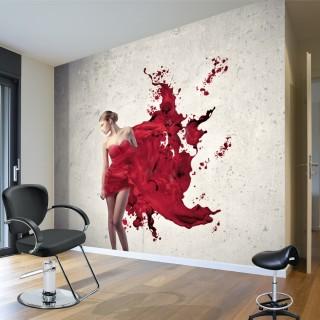 Kırmızılı Kadın 2 - Duvar Posteri