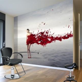 Kırmızılı Kadın - Duvar Posteri