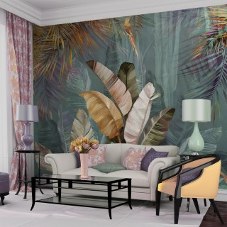 Tropikal Yapraklar Duvar Kağıdı