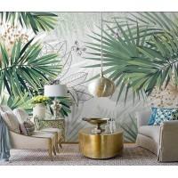 Tropik Yapraklar Tasarım Duvar Kağıdı A103-079