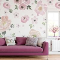Soft Çiçekler Duvar Kağıdı