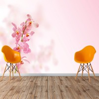 3D Pembe Çiçek Dalı Duvar Posteri