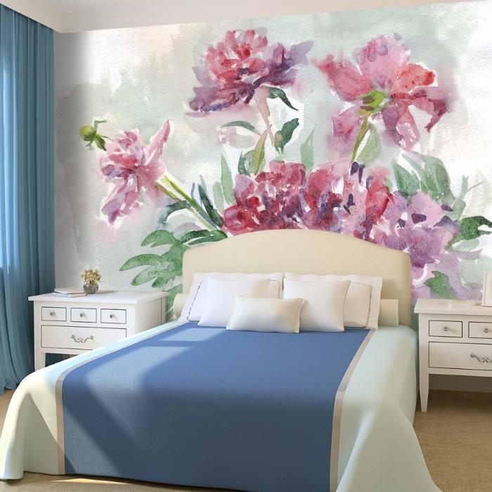 3D Suluboya ÇiçeklerDuvar Posteri