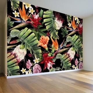 3D Yapraklar Duvar Posteri