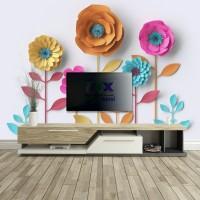 3D Karton Çiçekler Duvar Posteri