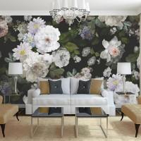 Büyük Boyama Çiçekler Duvar Kağıdı