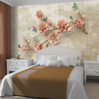 Zarif Çiçek Dalı Duvar Kağıdı