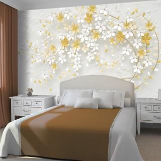 Dekoratif Çiçekler Duvar Kağıdı