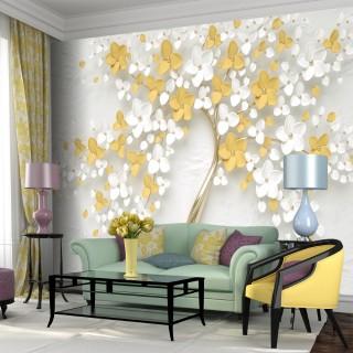 Dekoratif Çiçekler Duvar Kağıdı 2
