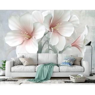 3D Efektli  Çiçekler Duvar Posteri