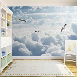 Bulutların Üzerinde Martılar Duvar Kağıdı