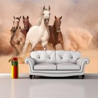 Koşan Atlar 3D Duvar Kağıdı