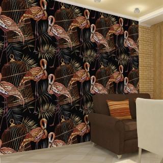 Nakış İşleme Flamingo 3D Duvar Posteri