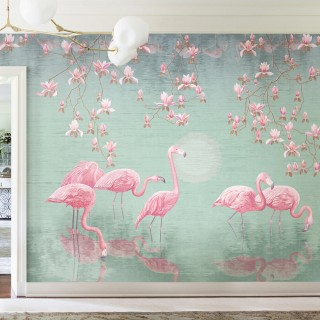 Flamingolar Duvar Kağıdı
