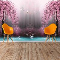 Göl Kenarı Ağaç - Duvar Posteri