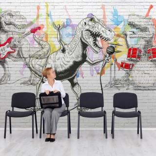 Dinozorlar Müzik Grubu Graffiti Duvar Kağıdı