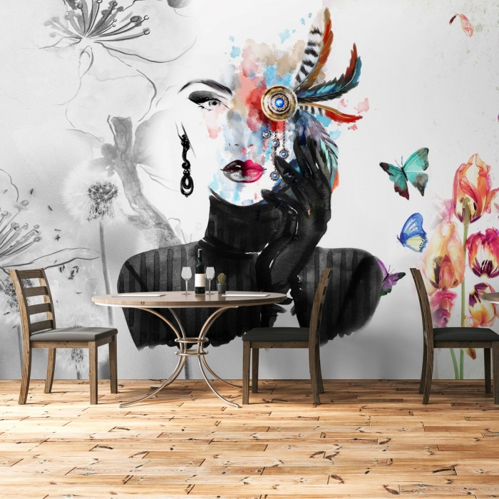 Kuaför Duvar Kağıdı - Özel Tasarım