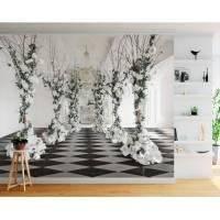 3D Derin Çiçekli Salon