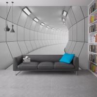 Beyaz Koridor Derinlik Duvar Kağıdı