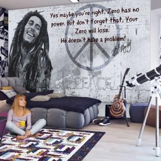 Bob Marley Tasarım Duvar Posteri Graffiti