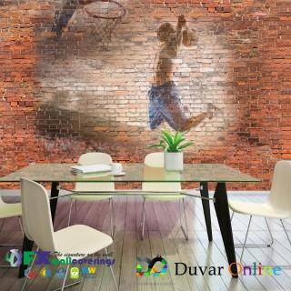 Tuğla Duvar Basketbol Graffiti