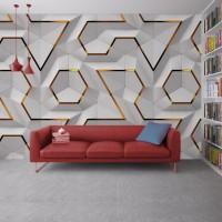 Geometrik 3D Efektli Duvar Kagidi 6