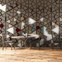 Geometrik 3D Efektli Petek Duvar Kağıdı