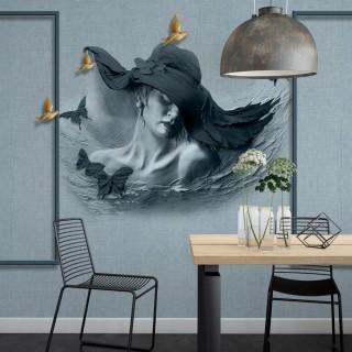 Şapkalı Kadın 3D Duvar Posteri A203