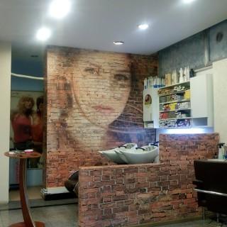 Duvardaki Yüz Kuaför Duvar Kağıdı graffiti