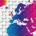 3D Renkli Dünya Haritası - Duvar Kağıdı