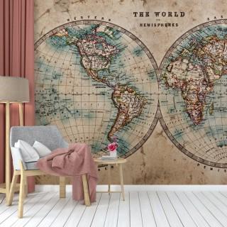 Antik Dünya Haritası N-1226