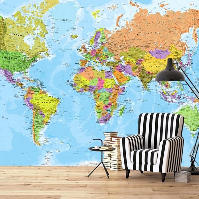 Dünya Haritası Duvar Posteri